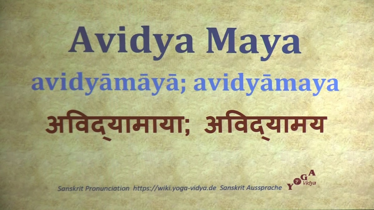 The Relation And Difference Between Avidya & Maya